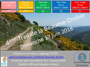 4eme Trail de la Beaume-Drobie
