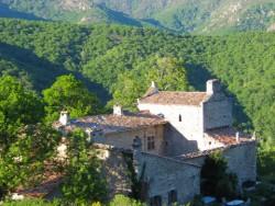 Het kasteel in Chastanet
