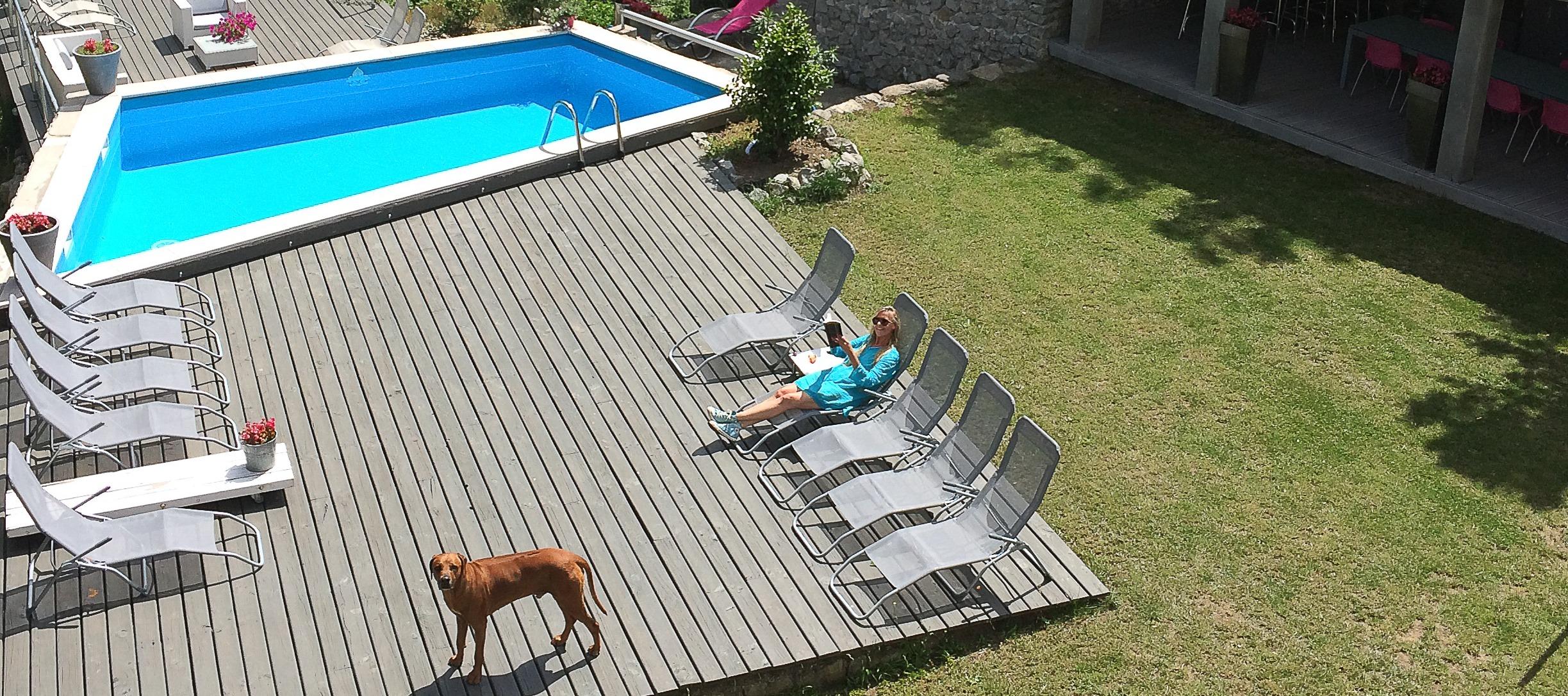 Tuin zwembad/ Jardin piscine