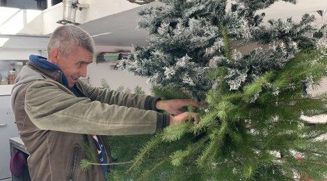Kerstboom: een beetje van mezelf en een beetje van maggie